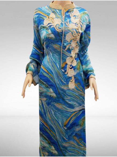 Satin Silk Embroidered Salwar Kameez