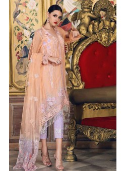 Unstitch,Branded, Women's/Girls Collections,Embroidered Net Dupatta with Seqins, Embroidered Blended Chiffon Front & Back, Embroidered Broder with Dyed Organza, Printed Inner and Bottom