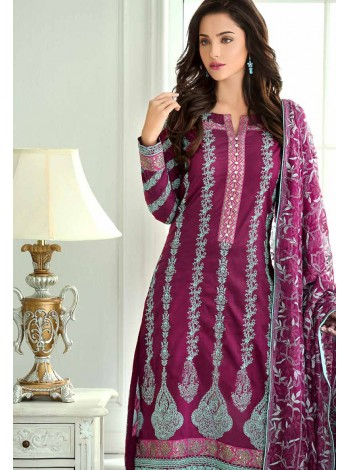 Unstitch,Branded, Women's/Girls Collections,Premium Embroidered Chiffon Shirt Salwer kameez(3pcs)