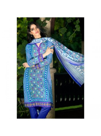 Unstitch,Branded, Women's/Girls Collections,Two Piece Cotton Printed Front & Back and Printed Dupatta Kameez(3pcs)
