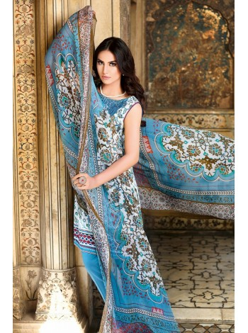 Unstitch,Branded, Women's/Girls Collections,Embroidered Printed Shirt,Chiffon Dupatta and Dyed Salwar Kameez(3pcs)