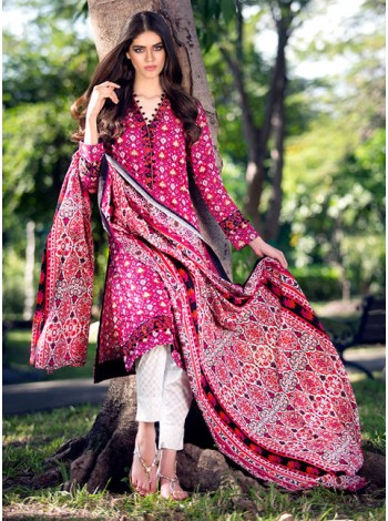 Unstitch,Branded, Women's/Girls Collections,Two Piece Cotton Embroidered Printed Shirt and Dupatta Salwar Kameez