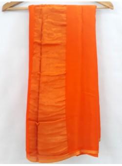 Orange Stripe Chiffon Saree MH-1